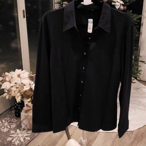 J. McLaughlin Betty Collar Fitted Shirt